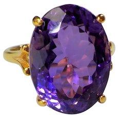 Custom Made 11ct. Amethyst Gold Vermeil Ring
