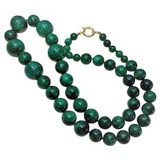 Translucent Imperial Green Jade Necklace Gold Vermeil Clasp