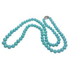 Art Deco Chinese Turquoise Peking Qianlong Glass Necklace