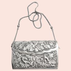 Antique Chinese Qing Dynasty Sterling Silver Purse