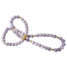 Amethyst Necklace Gold Vermeil Filigree Clasp