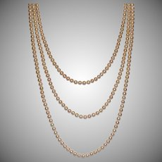 3-Strand 6 mm Cultured Freshwater Pearl Necklace