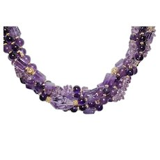 Fabulous Amethyst Torsade Statement Necklace