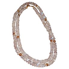 Moonstone Layering Necklace,