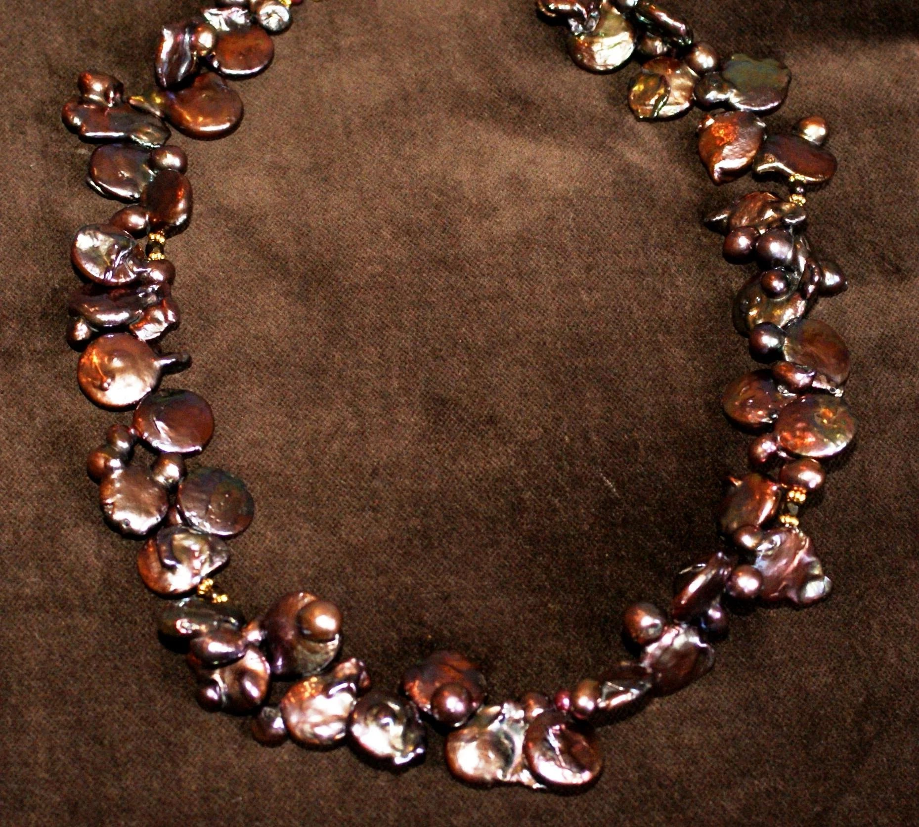 Unusual And Irregular Iridescent Coin Freshwater Pearl