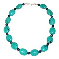 Turquoise and Dumortierite Necklace