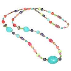 So Many Colors Gemstone Fiesta Necklace