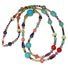 Multi-Gemstone Fiesta Necklace
