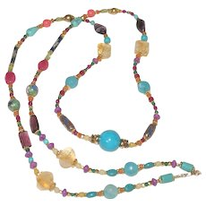 Colorful Multi-Gemstone Necklace