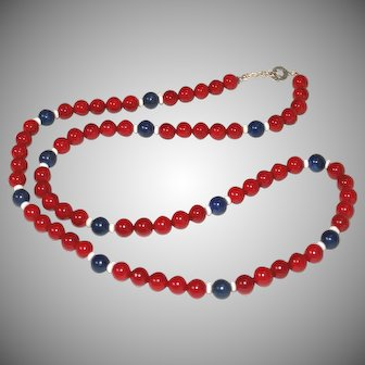Red, White and Blue Patriotic Necklace