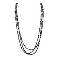 Peacock FW Pearl Triple Strand Necklace