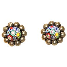 Vintage Venetian Millefiori Earrings