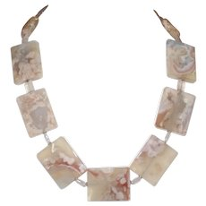 Fascinating Blossom Agate and Rose Quartz Statement Necklace