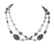 Long Fluorite Necklace