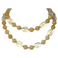 Yellow Opal and Lemon Quartz Necklace