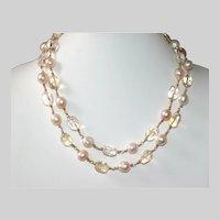 Baroque Pearl and Quartz Nugget Necklace
