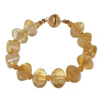 Citrine Bracelet with Vermeil