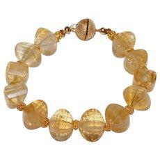 Citrine Bracelet with Vermeil