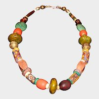 Antique African Trade Bead Necklace