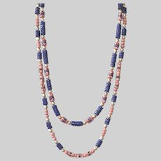 Old African Snake and Padre Beads with Krobo Beads Necklace