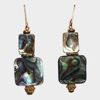 Blue-Green Abalone (Paua Shell) Earrings