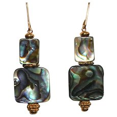 Blue-Green Abalone (Paua Shell) Earrings