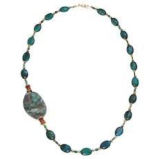 Chrysocolla and Ocean Agate Necklace