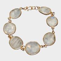 Moonstone and  Vermeil Bracelet