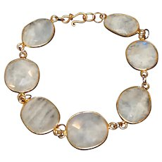 Moonstone and  Vermeil Bracelet