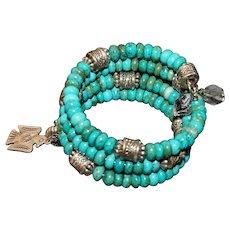 Turquoise Memory Wire Wrap Bracelet