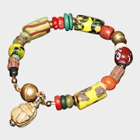 Ethnic Style Antique and Vintage Trade Bead Bracelet