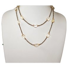 Sparkling Citrine Quartz  and Titanium Pyrite Layering Necklace