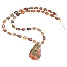 Red Creek Jasper Pendant Necklace
