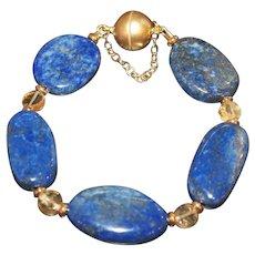 Lapis Lazuli with Citrine Bracelet