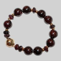 Garnet Lovers Bracelet