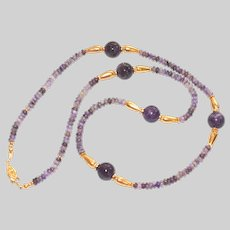 Purple Russian Charoite Necklace