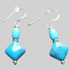 Nacozari Turquoise and Sterling Silver Dangle Earrings