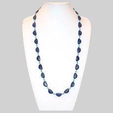 Lapis Lazuli and Nacozari Turquoise Long Necklace