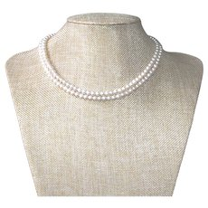 Double Strand Classic Freshwater Pearl Necklace