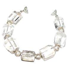 Crystal Clear Rock Quartz Chunky Statement Bracelet