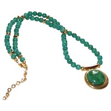 Russian Amazonite Pendant and Necklace
