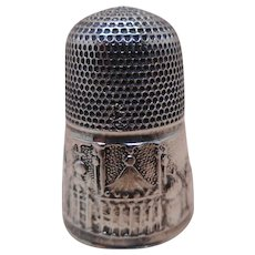 Mid 19thc silver thimble-Brighton Pavilion. Prince Regent's ( later George IV ) seaside Palace!