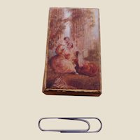 A little cardboard box with a charming early print. c 1860