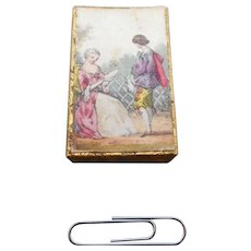 Miniature needle packet box. c 1850