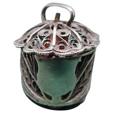 Georgian silver filigree tape measure. c 1815