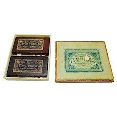 A pair of 'Tom Thumb' whist markers. Goodall. Original box.