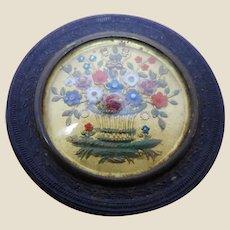 A French decorative pin box. c 1850