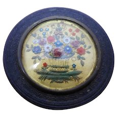 A French decorative pin box. c 1850