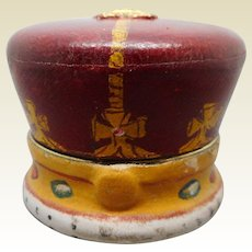 A rare Coronation Crown travelling ink well. c 1910
