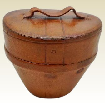 ' Hat box ' travelling ink well.  c1870